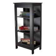 Luxury Home Poppy Wood Corner Display Cabinet