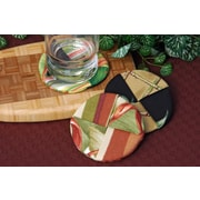 Pacific Table Linens Outdoor Wine Glass Coaster (Set of 2); Sienna Sepia