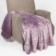BOON Throw & Blanket Oversized Double Sided Faux Fur Throw Blanket; Purple