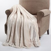BOON Throw & Blanket Faux Fur Throw Blanket; Beige