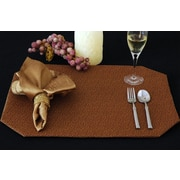 Pacific Table Linens Naples Table Linen Reversible Placemat (Set of 2); C01-Saddle/Gold