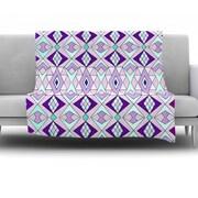 KESS InHouse Geometric Flow by Pom Graphic Design Fleece Throw Blanket