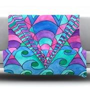 KESS InHouse Gatsby Inspired by Rosie Fleece Throw Blanket; 90'' H x 90'' W x 1'' D