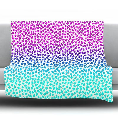 KESS InHouse Ombre Arrows by Sreetama Ray Fleece Throw Blanket; 90'' H x 90'' W x 1'' D WYF078277642410