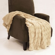 BOON Throw & Blanket Swirl Faux Fur Throw Blanket; Natural