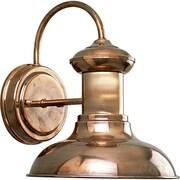 Progress Lighting Brookline 1-Light Wall Lantern; Copper