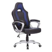 HomCom Heated Massaging Office Chair; Black/Blue