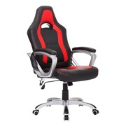 HomCom High-Back Executive Chair; Black/Red