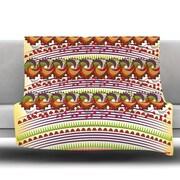 KESS InHouse Colorful Traditional Pattern by Famenxt Fleece Throw Blanket; 80'' H x 60'' W