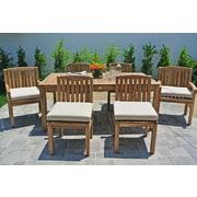 Willow Creek Designs Huntington 7 Piece Dining Set w/ Cushions; Black