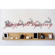 Design With Vinyl Jingle All the Way Wall Decal; 10'' H x 40'' W x 0.16'' D