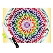 KESS InHouse Colorful Vibrant Mandala by Famenxt Cutting Board; 11'' W x 7.5'' D