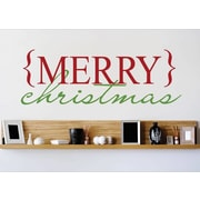 Design With Vinyl Merry Christmas Wall Decal; 8'' H x 20'' W x 0.16'' D