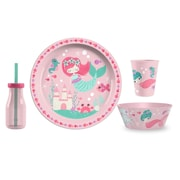 TarHong Mermaid Polypropylene 4 Piece Dinnerware Set