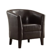 Poundex Bobkona Denzil Faux Leather Club Chair; Chocolate