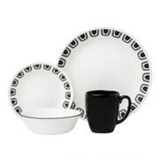 Corelle Livingware Black Night 16 Piece Dinnerware Set
