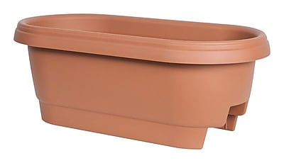 Lodge Oval Rail Planter; Clay WYF078279024930