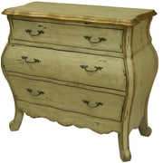 Crestview Victoria 3 Drawer Shaped Bombe Chest