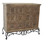 Crestview Madison Metal Base and Wood 3 Drawer Chest