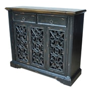 Crestview Nottingham 3 Pierced Door Cabinet
