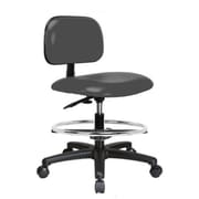 Perch Chairs & Stools 12'' Lab Chair with Basic Backrest; Cinder