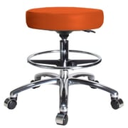 Perch Chairs & Stools Height Adjustable Swivel Stool with Foot Ring; Orange Kist