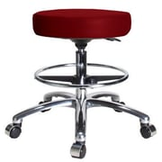 Perch Chairs & Stools Height Adjustable Swivel Stool with Foot Ring; Burgundy