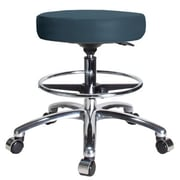 Perch Chairs & Stools Height Adjustable Swivel Stool with Foot Ring; Colonial Blue