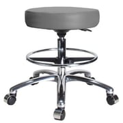 Perch Chairs & Stools Height Adjustable Swivel Stool with Foot Ring; Gray