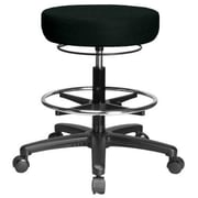 Perch Chairs & Stools Height Adjustable Medical Stool with Foot Ring; Black Fabric