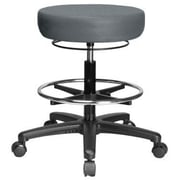 Perch Chairs & Stools Height Adjustable Medical Stool with Foot Ring; Cinder Fabric