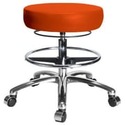 Perch Chairs & Stools Height Adjustable Medical Stool with Foot Ring; Orange Kist