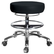 Perch Chairs & Stools Height Adjustable Medical Stool with Foot Ring; Black