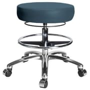 Perch Chairs & Stools Height Adjustable Medical Stool with Foot Ring; Colonial Blue