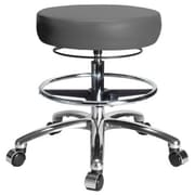 Perch Chairs & Stools Height Adjustable Medical Stool with Foot Ring; Gray