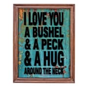 ByronAnthonyHome Love ByThe Bushel Glass Sign Framed Textual Art