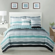 Studio17 Tie Dye Striped Comforter Set; Full/Queen