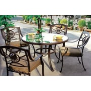 Darlee Ten Star 5 Piece Dining Set with Cushion