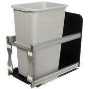 Knape&Vogt 12.5-Gal Cabinet Soft Close Pull Out Trash Can; Platinum