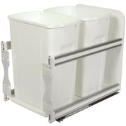 Knape&Vogt 8.75-Gal Plastic In-Cabinet Double Soft Close Pull-Out Trash Can; White