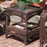 Wicker Warehouse Belaire Side Table; Antique Brown