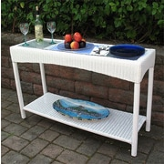 Wicker Warehouse Caribbean Console Table; White