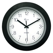 Equity by La Crosse 10'' Insta-Set Wall Clock; Black