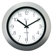 Equity by La Crosse 10'' Insta-Set Wall Clock; Silver