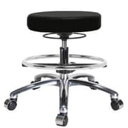 Perch Chairs & Stools Height Adjustable Massage Therapy Swivel Stool with Foot Ring; Black
