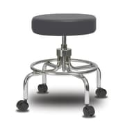 Perch Chairs & Stools Height Adjustable Exam Stool; Charcoal Vinyl