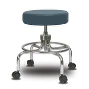 Perch Chairs & Stools Height Adjustable Exam Stool; Colonial Blue Vinyl