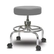 Perch Chairs & Stools Height Adjustable Exam Stool; Grey Vinyl