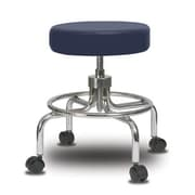 Perch Chairs & Stools Height Adjustable Exam Stool; Imperial Blue Vinyl