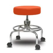 Perch Chairs & Stools Height Adjustable Exam Stool; Orange Kist Vinyl